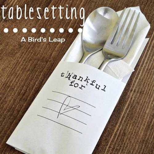 DIY Minimalistic Thanksgiving Table Setting via A Bird's Leap