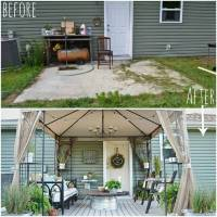 Before and After: A Stylish and Thrifty Back Patio ...