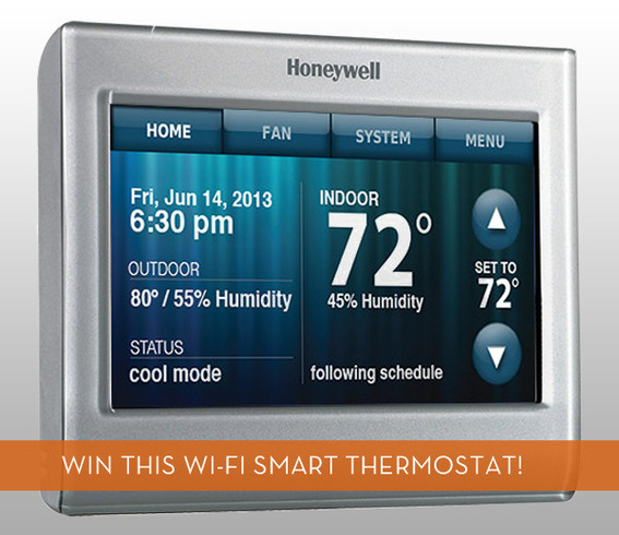 Win a Wi-Fi Smart Thermostat from Honeywell!