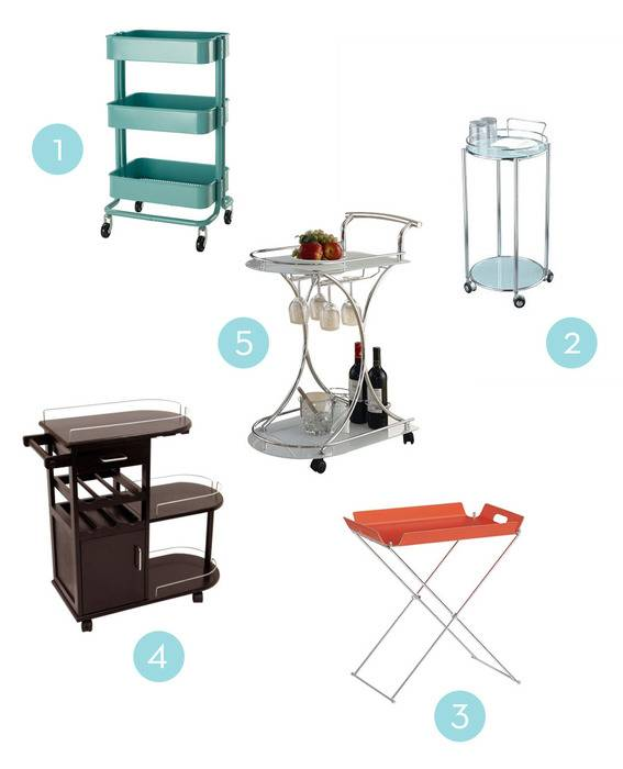 Five affordable bar carts.