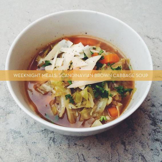 Scandinavian Brown Cabbage Soup