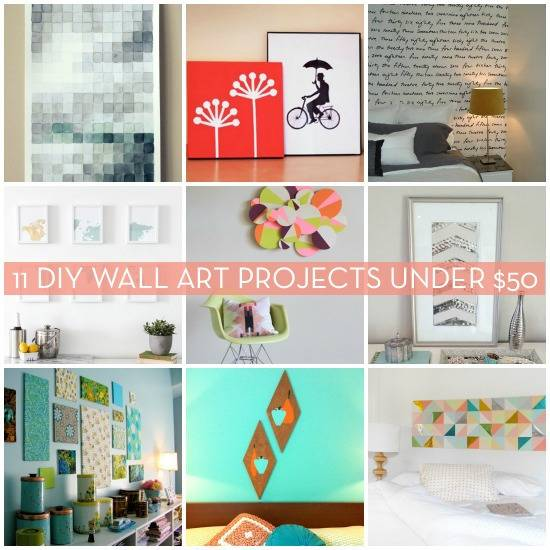 Roundup 11 Do It Yourself Wall Art Projects For Under 50