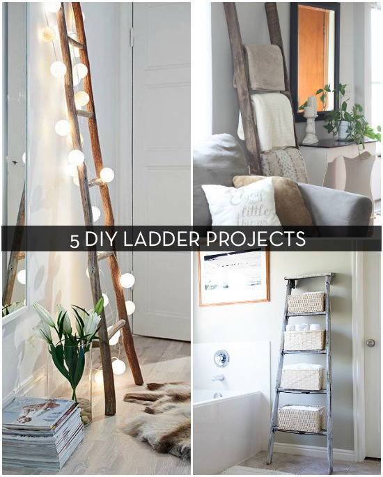 Roundup 5 Decorative Uses For Ladders Curbly DIY