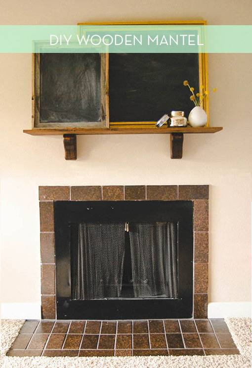 Cover Fireplace With Drywall Ikea Hack: How To Make A Simple Mantel From A Wood Shelf