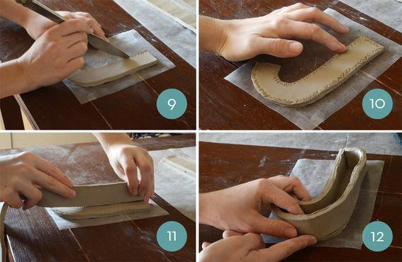 DIY Clay Letterform Storage Boxes