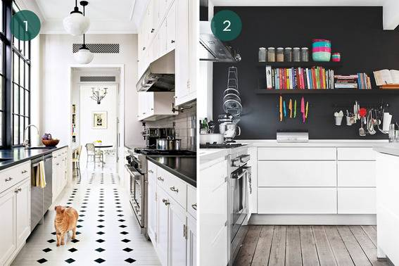 Eye Candy: 10 Stunning Black And White Kitchens