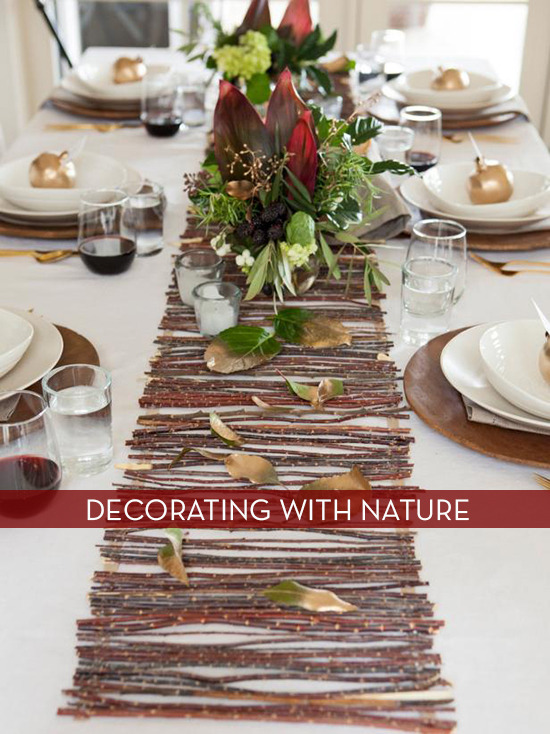Natural items for thanksgiving tables
