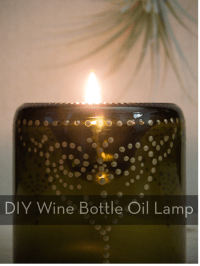 How To: Make an Inverted Wine Bottle Oil Lamp  Curbly ...