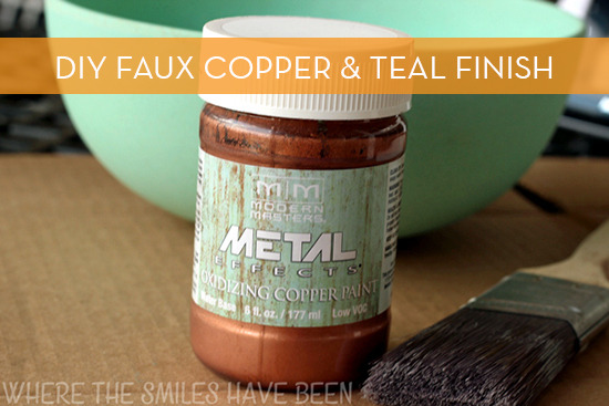 faux copper finish planter