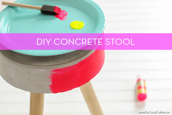 Make It: Do-It-Yourself Colorful Concrete Stool