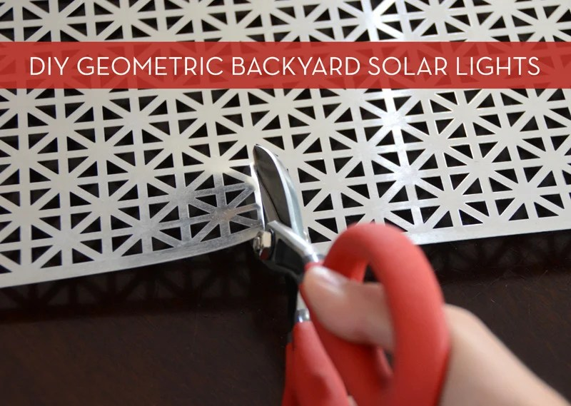 How-To: Easy Geometric Solar Lights For Your Porch or Patio