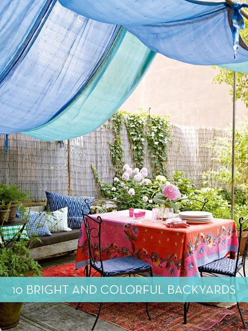 Eye Candy: 10 Colorful Backyards Perfect For Entertaining
