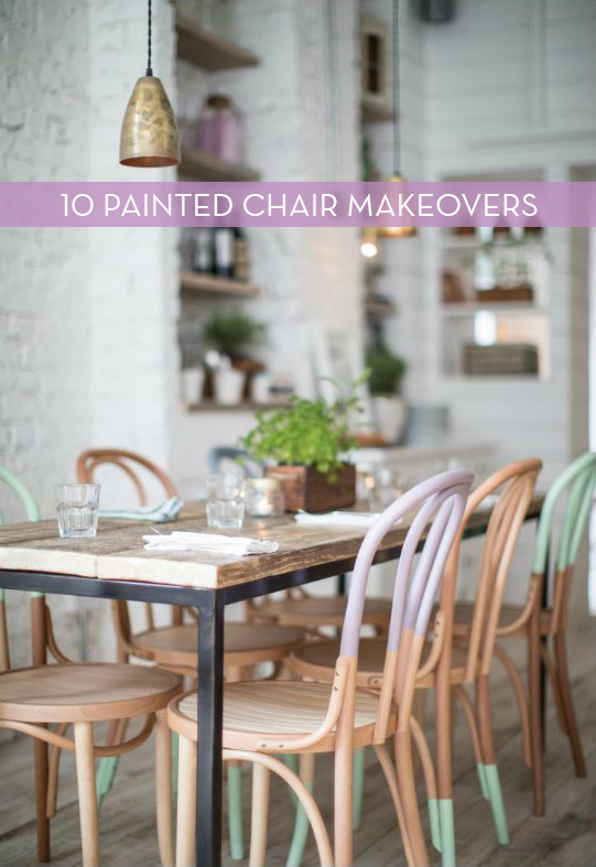 Eye Candy: 10 Colorful Chair Makeovers With Paint