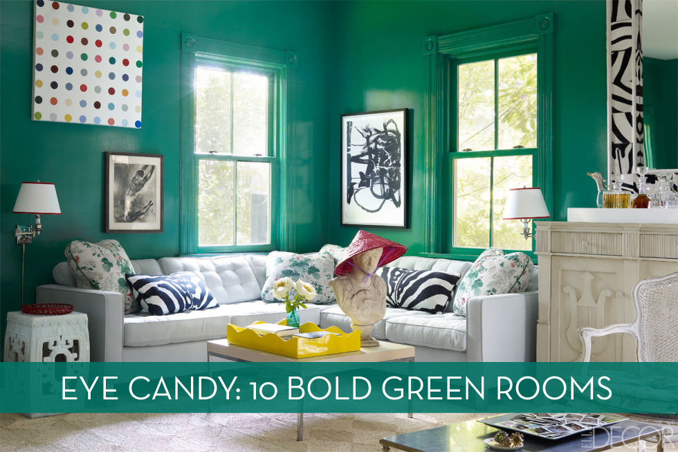 Would You Dare? 10 Stunning Green Rooms