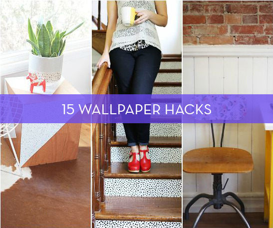15 Furniture & Accessory Updates Using Wallpaper