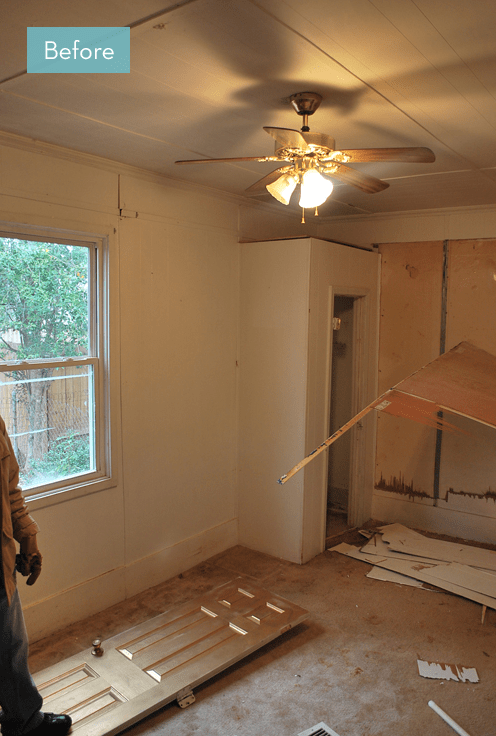 Before and After: A Bedroom Is Converted To A Kitchen
