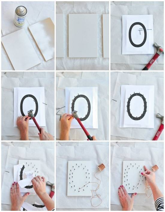 How To: Spooky & Simple BOO String Art For Halloween