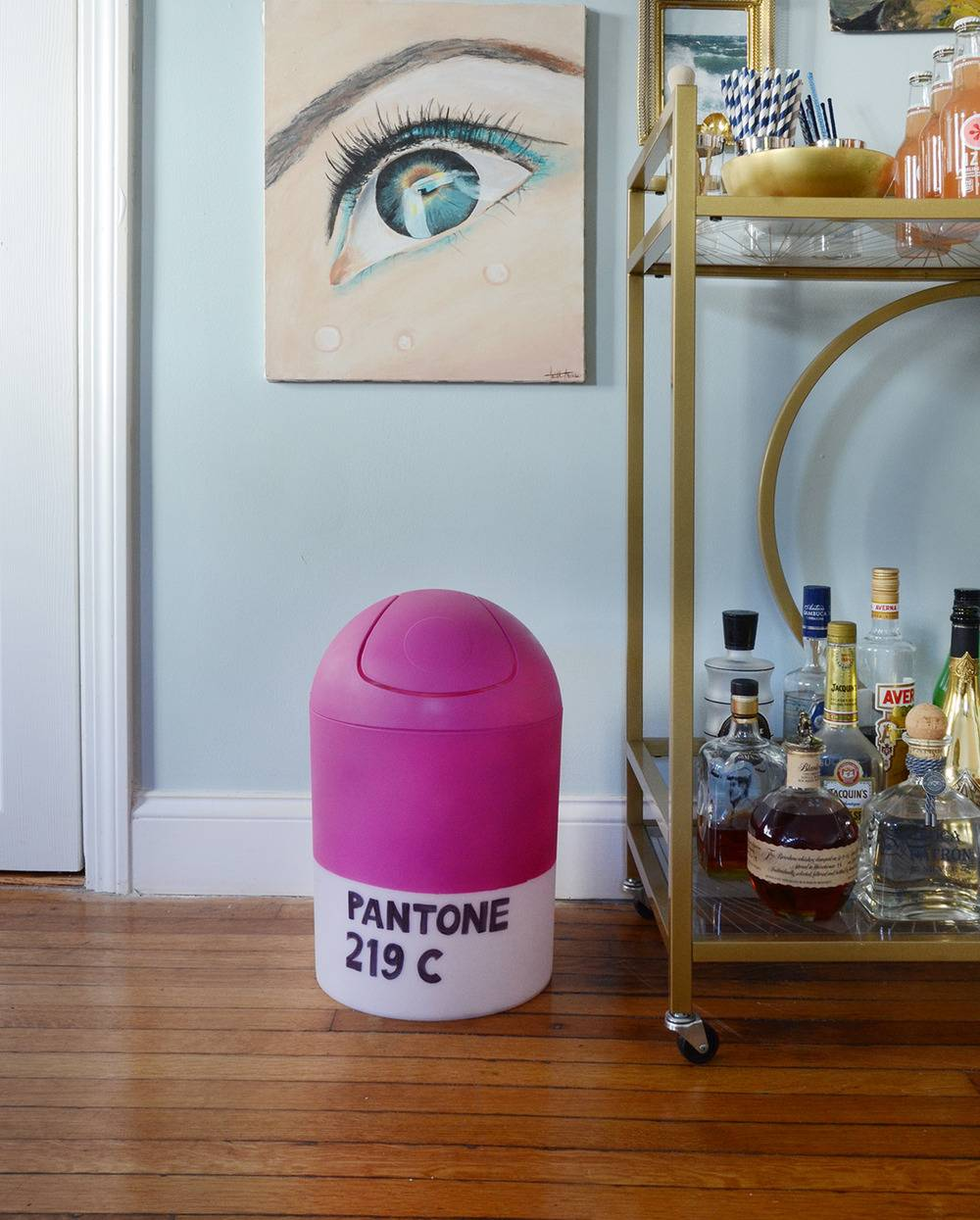 How-To: Easy DIY PANTONE Trash Can