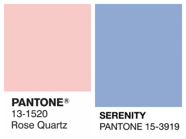 Pantone's 2016 Colors of the Year