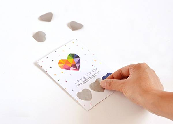 DIY printable scratch-off Valentine's Day card