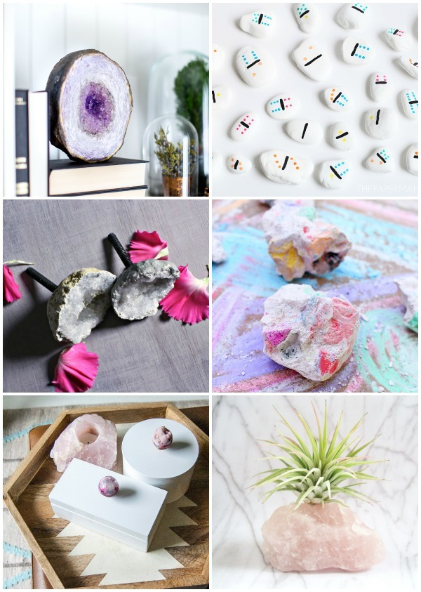 rock-themed DIY projects