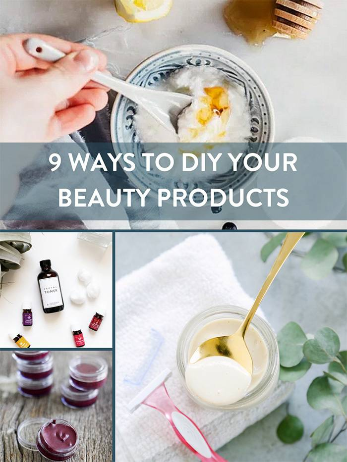 9 All Natural Homemade Beauty Products