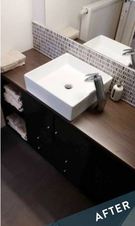 Before and After: Bathroom Vanity From An IKEA Kallax