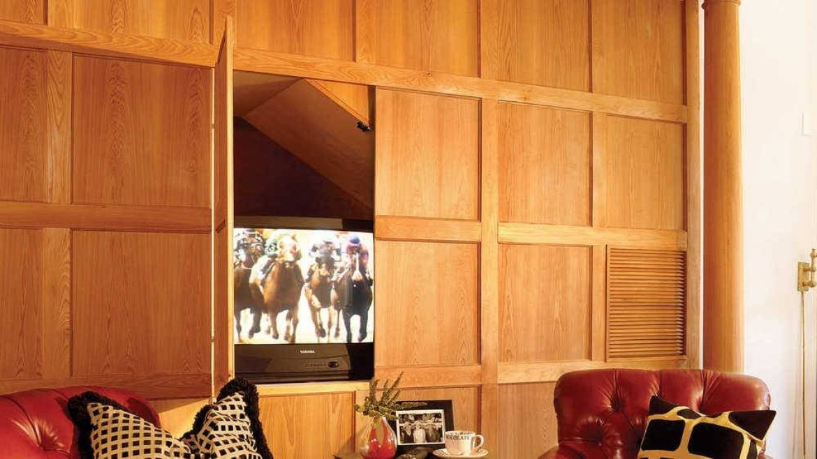 clever ideas to hide wall mounted tvs