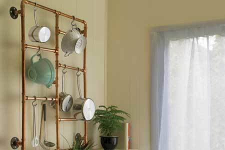Pots and pans organizer - industrial furniture ideas