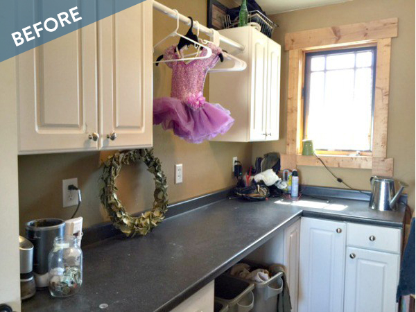 Before and After: An Incredible Laundry Room Makeover