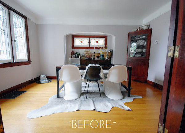 Kim's dining room before