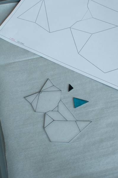 step 7.2 for faux fused glass geometric fox