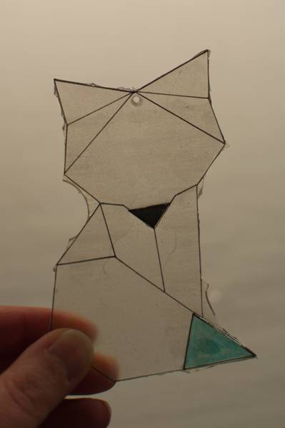 step 12.1 for faux fused glass geometric fox