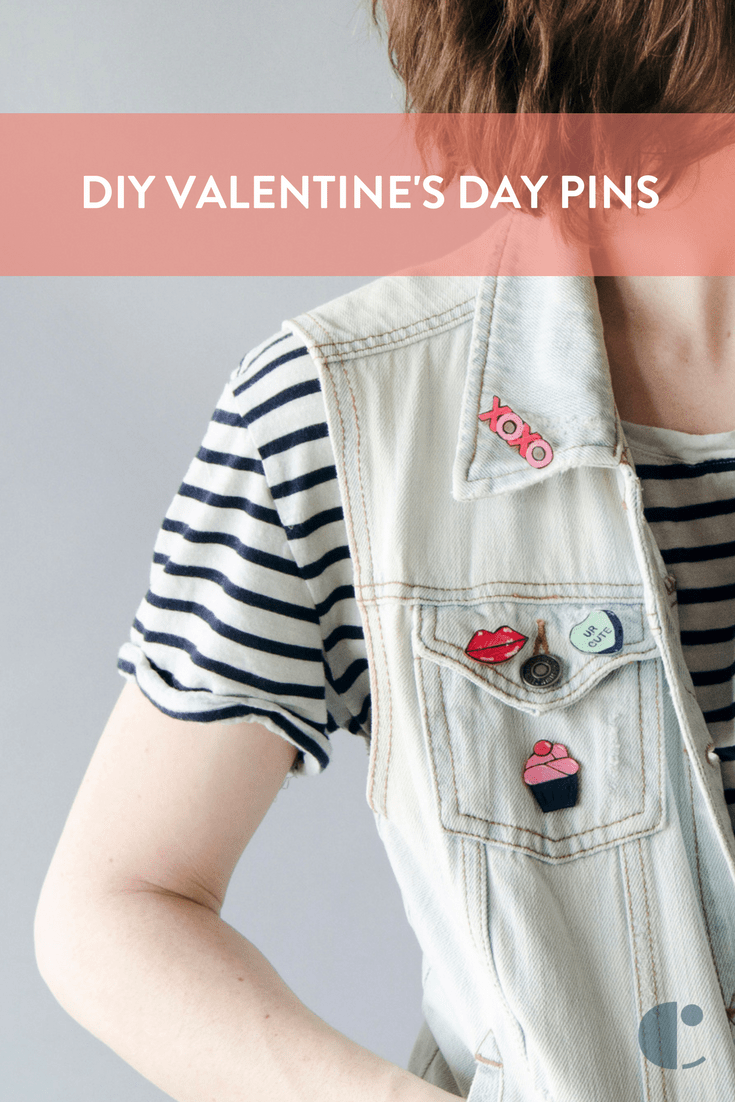 Do it yourself Valentine's Day pins