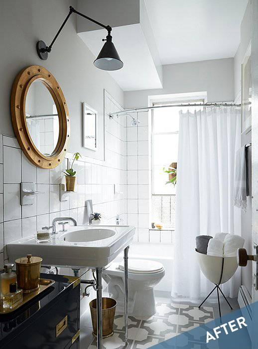 Nailed It! This Bathroom Makeover Hits All The Top Trends