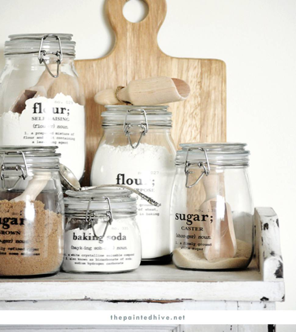 Harmonious Vinyl Jar Labels | 72 Organization Tips and Projects for Every Space in Your Home