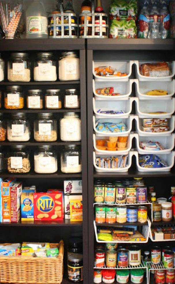 This bookshelf is a pantry! | 72 Organization Tips and Projects for Every Space in Your Home