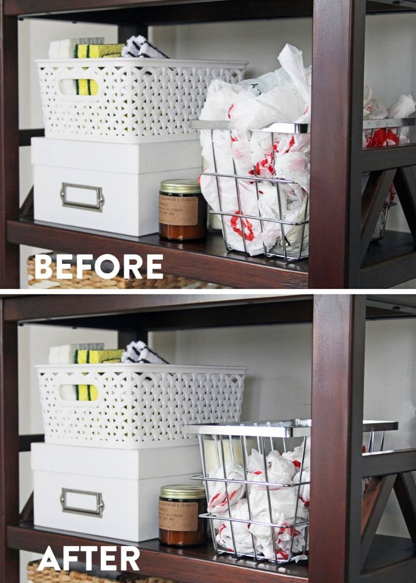What a space saver! Learn how to fold a plastic shopping bag the right way.