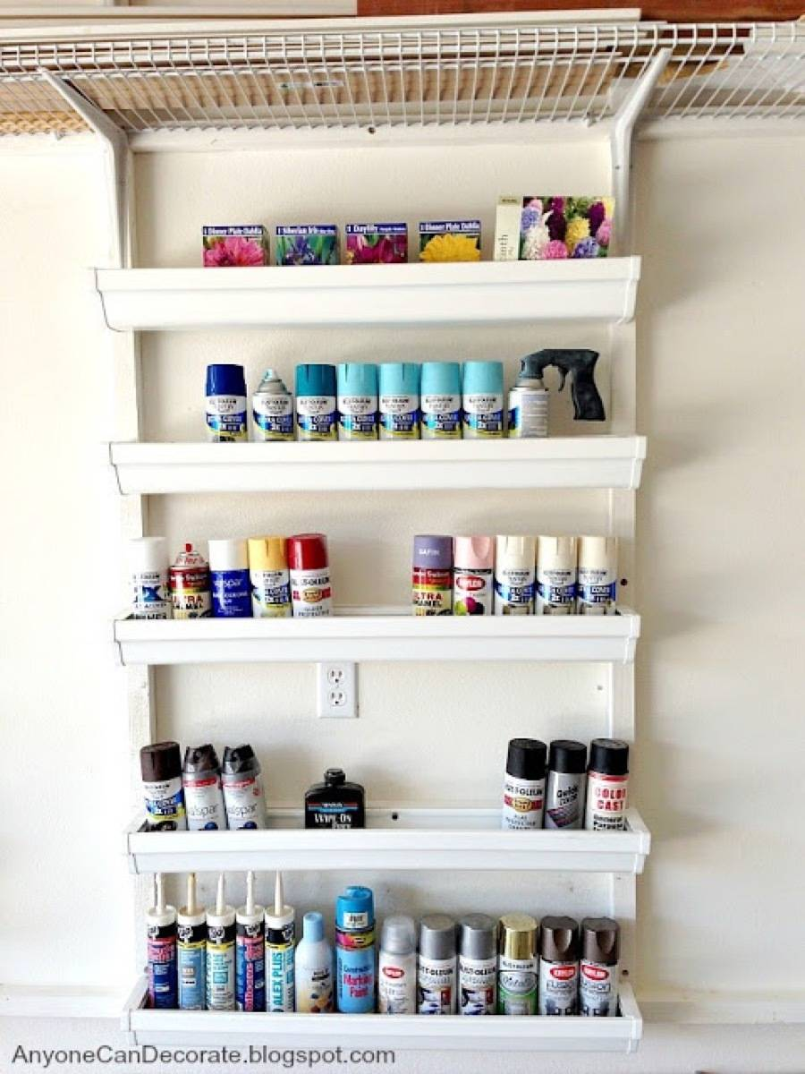 Gutters make great shelving! | 72 Organization Tips and Projects for Every Space in Your Home