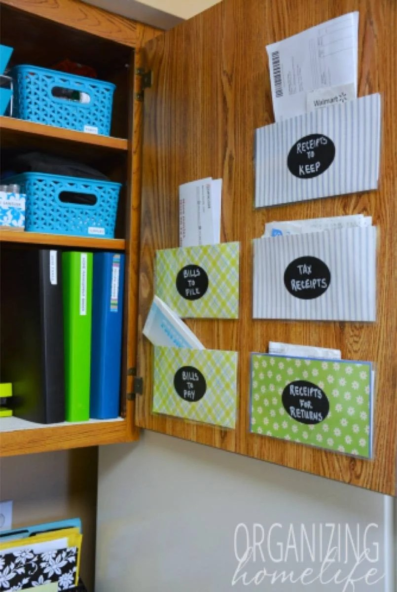 Hidden Pocket Organizers | 72 Organization Tips and Projects for Every Space in Your Home