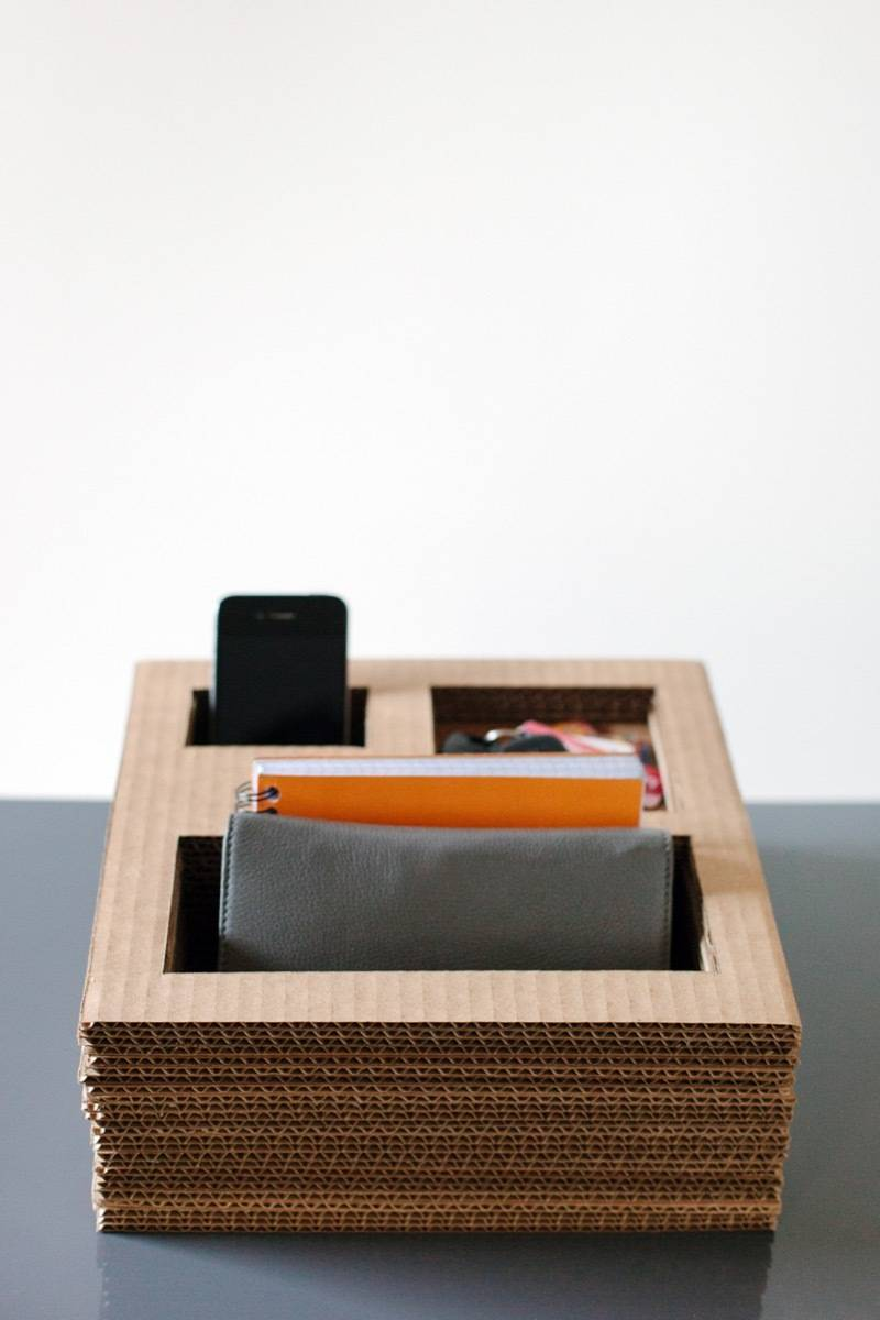 Organize on the cheap using cardboard and glue | 72 Organization Tips and Projects for Every Space in Your Home