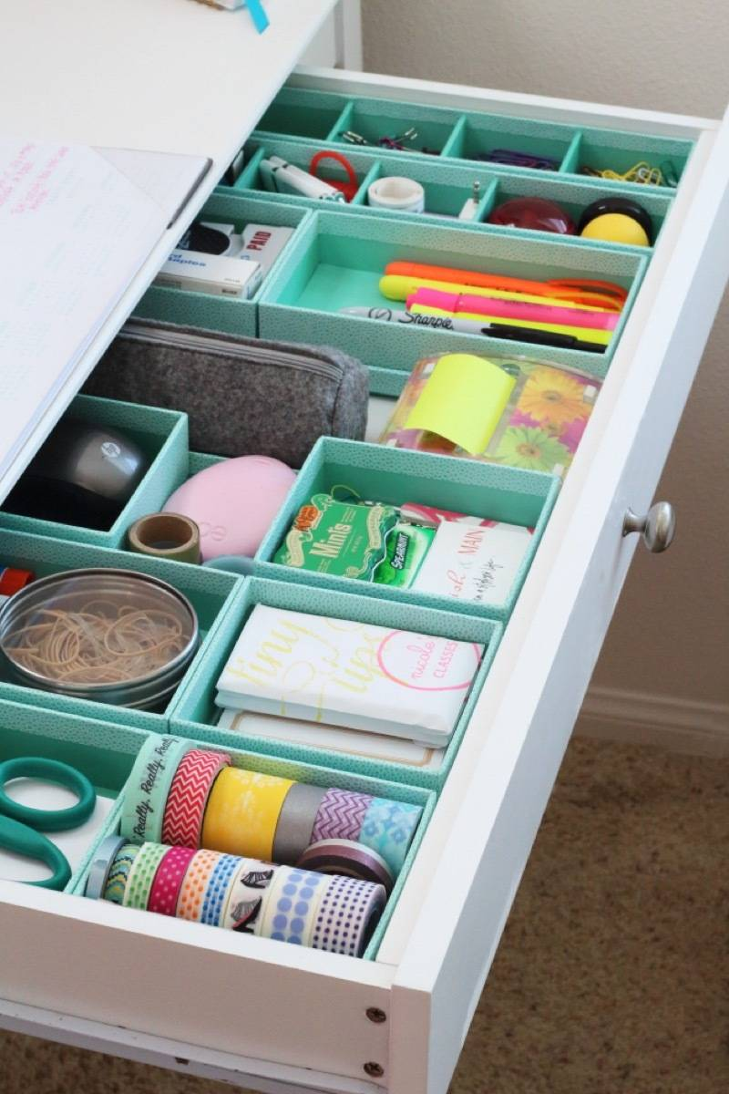 Use drawer dividers to keep your sanity in the office | 72 Organization Tips and Projects for Every Space in Your Home