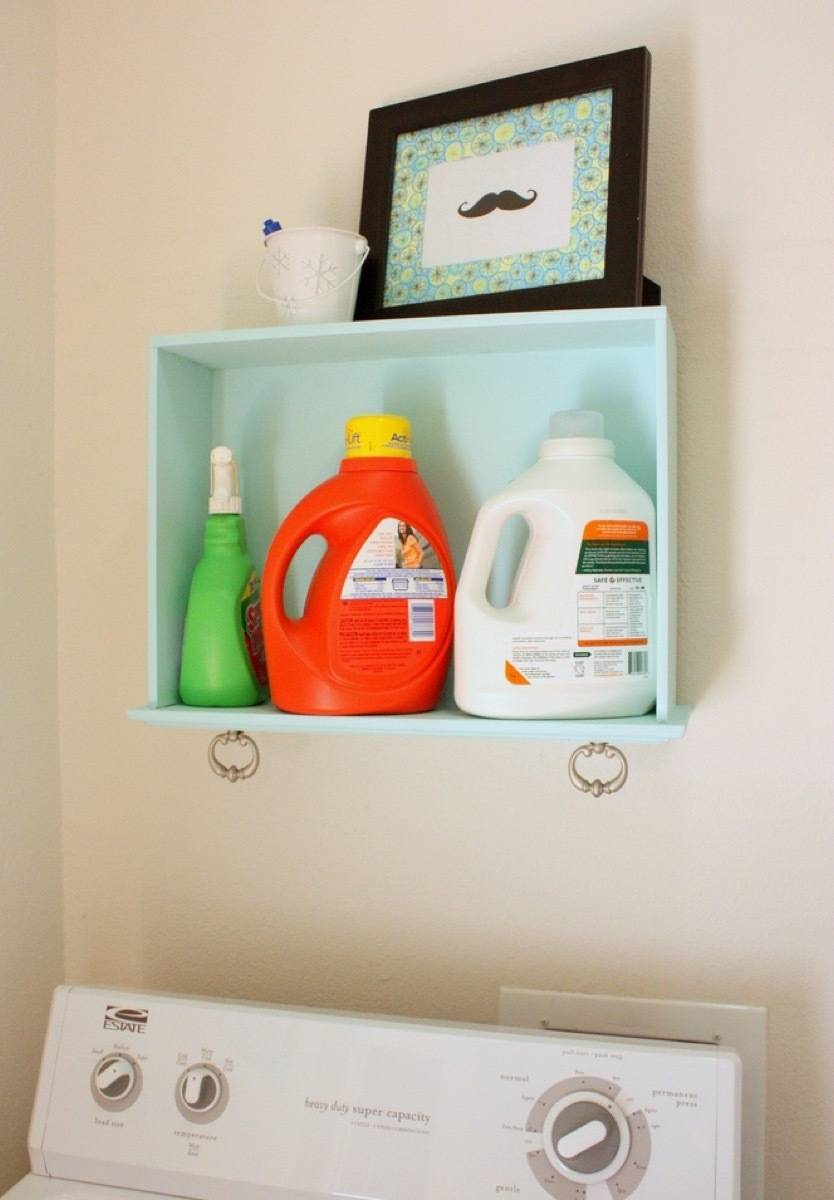 A drawer on its side make a great shelf | 72 Organization Tips and Projects for Every Space in Your Home