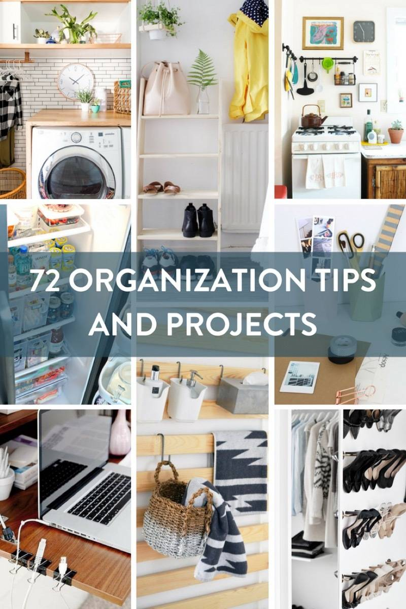 Ready to get a start on your spring cleaning? We've rounded up 72 organization tips and projects to help you tackle every room of the house