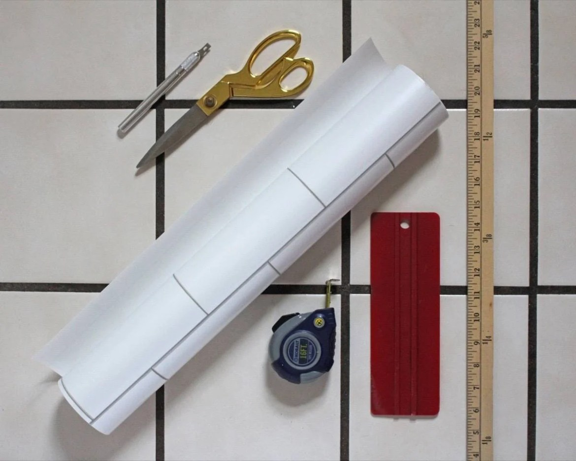 Materials needed to create a faux backsplash