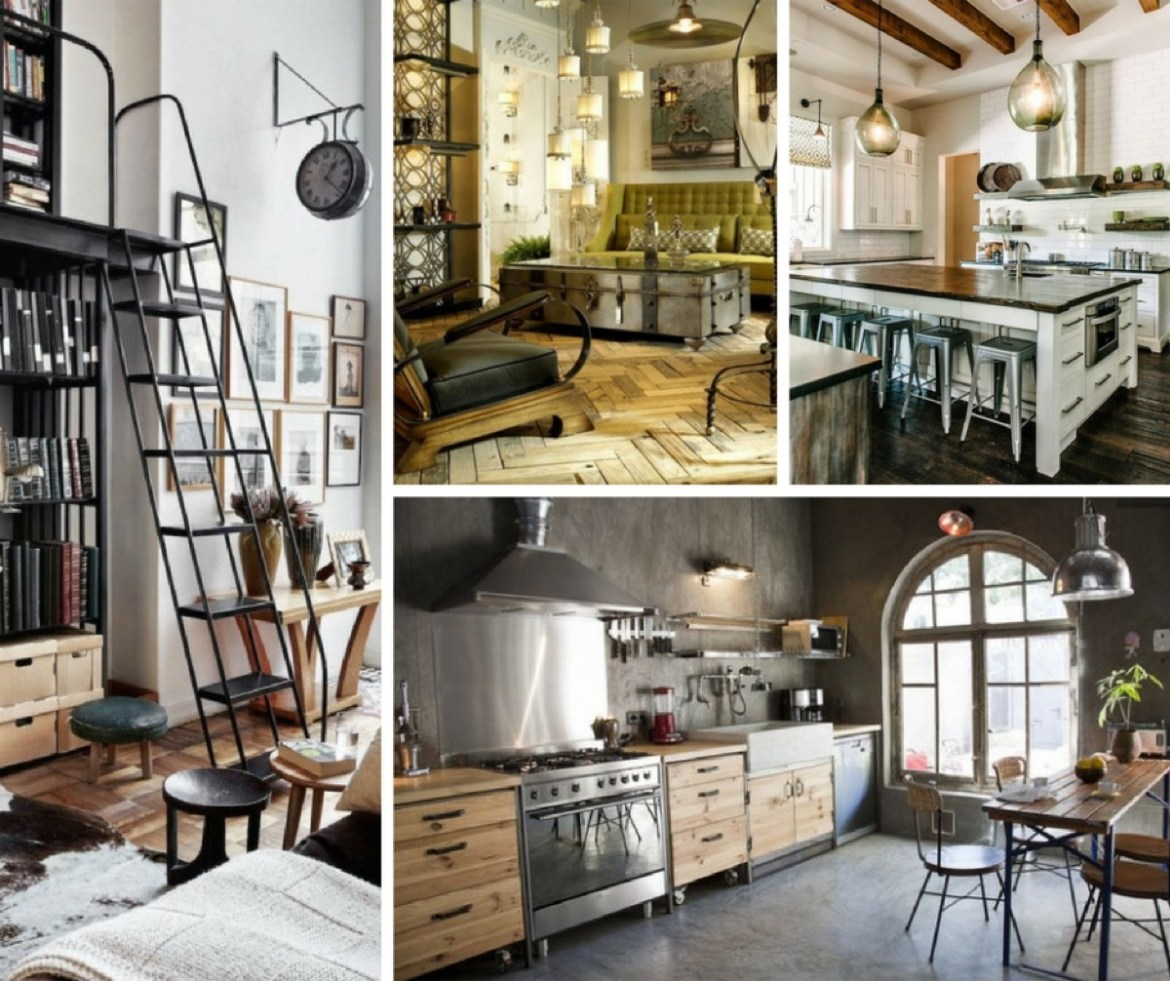 Farmhouse and Industrial Chic decor and style guide. How to get the look.