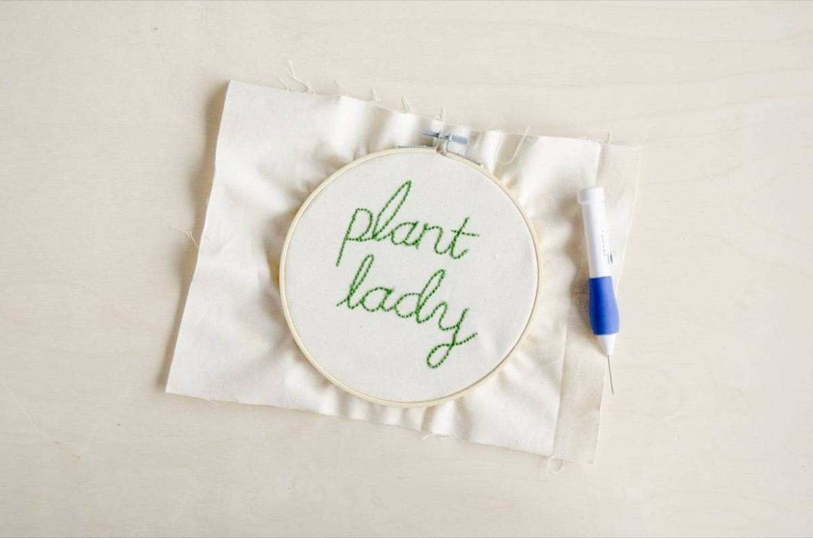 How to make quick embroidery pieces with a punch needle