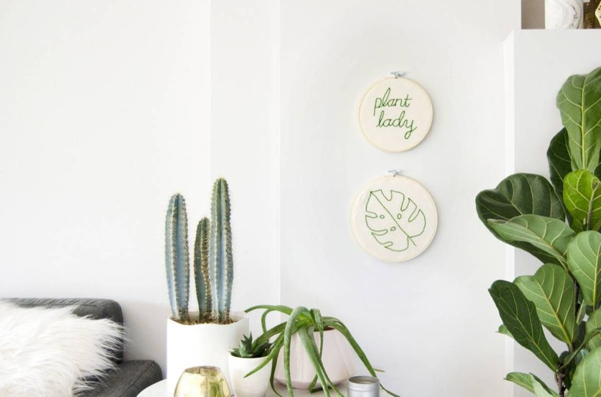 DIY easy wall art using a punch needle