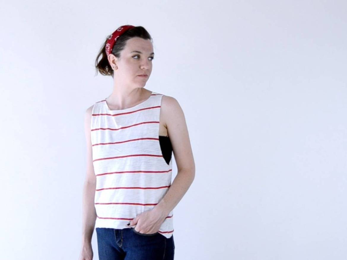 How to transform a regular t-shirt into a scoop neck shirt with just scissors