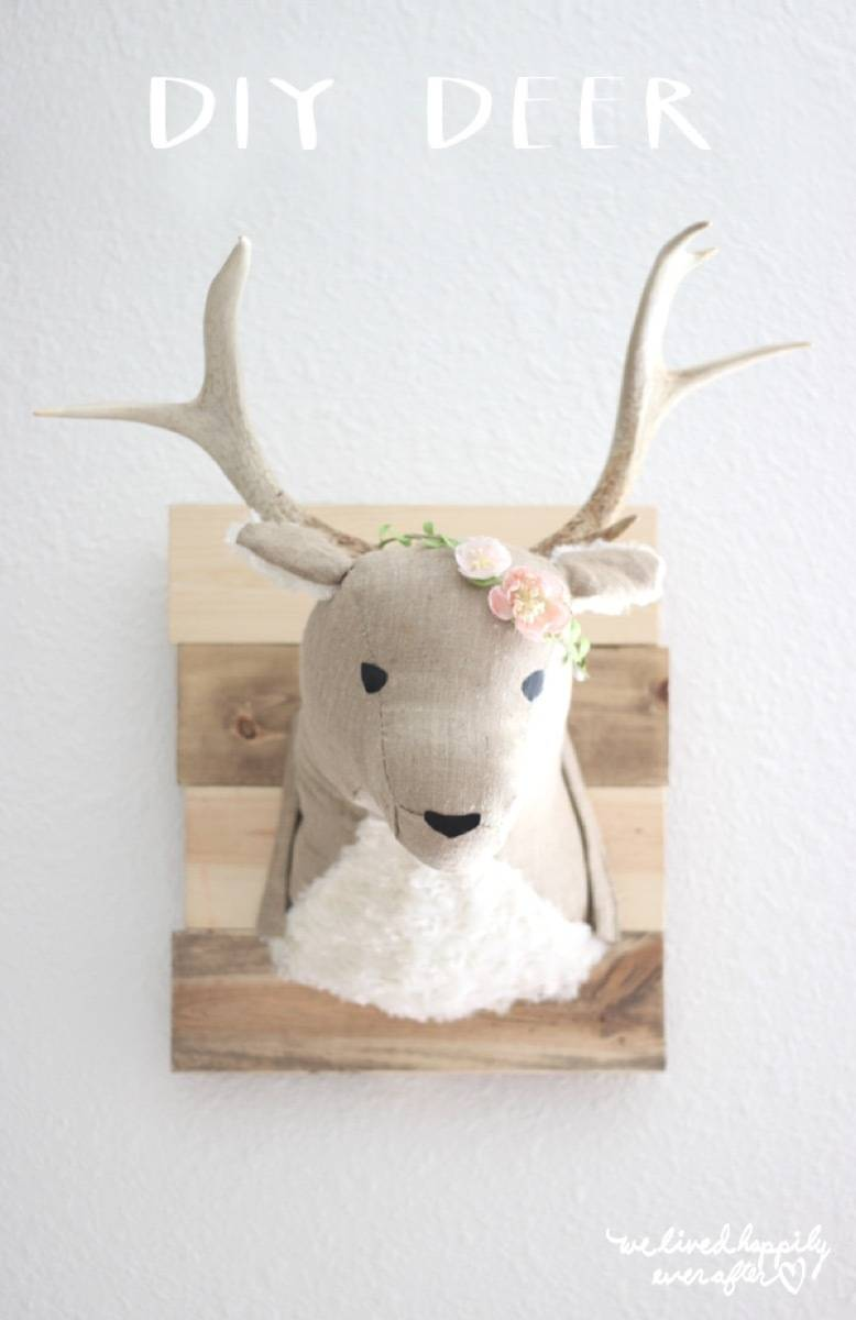 Wall art idea from Liz Marie Blog | 75 DIY Kids Decor Ideas